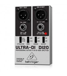 Behringer DI20 Ultra-DI 2-Channel Battery/Phantom Powered DI Box