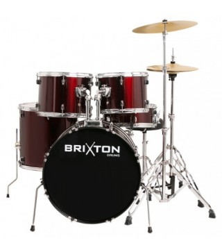 Brixton 5-Piece Drum Kit + Stool + Cymbals