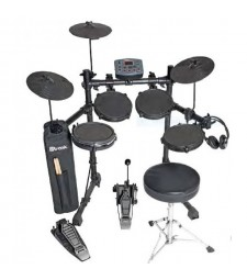 D-Tronic EDQ2P 5-Piece Electronic Drum Kit + Free Headphones + Stool + Sticks & Bag