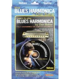 """WALTONS """"BLUES HARMONICA"""" BY DON BAKER"""