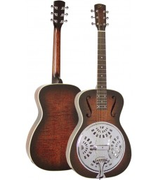 ESSEX RESONATOR GUITAR with F holes. Vintage sunburst