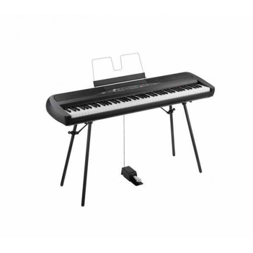 korg sp280 88 key digital piano free stand and pedal. Black Bedroom Furniture Sets. Home Design Ideas