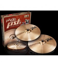 "Paiste PST-5 Cymbal Set 14"" HI-Hats 16"" Crash 20"" Ride + Free 10"" Splash Cymbal"
