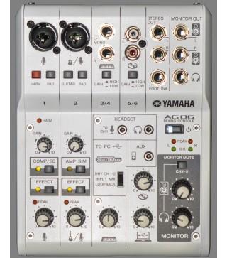 Yamaha AG06 Multi-Purpose 6-Channel Mixer/USB Audio Interface
