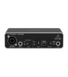 Behringer UMC22 USB audio interface 2x2 preamp